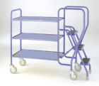 3 Step Fixed Steel Tray Trolley